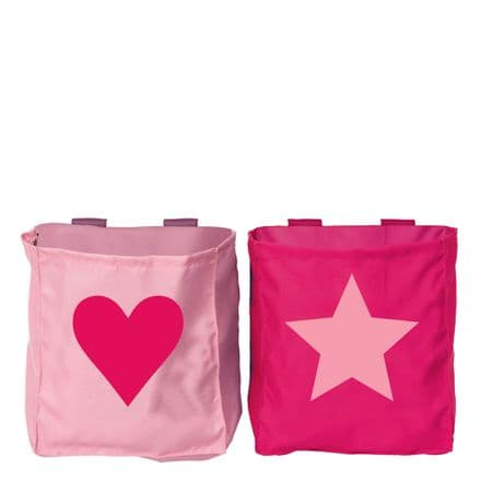 Manis-h 2 Bed Pockets in a Heart & Star Design